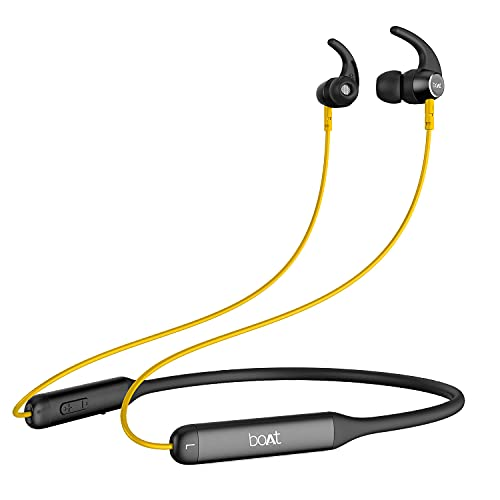 boAt Rockerz 330 Wireless Neckband with ASAP Charge, Up to 30H Playback, Enhanced Bass, Metal Control Board, IPX5, Type…