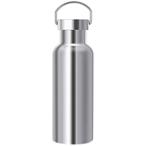 (Xiaogangpao Ascent 18/8 Stainless Steel Double Wall Vacuum Insulated Water Bottle,Leak Proof Sports Bottle Hydration,Wide Mouth BPA Free Thermos Flask(Original, 17 oz(500 ml)))