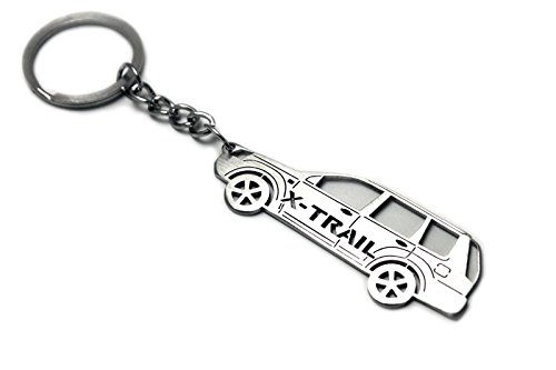 2d Pendant (Keychain With Ring For Nissan X-Trail T30 Steel Key Pendant Chain Automobile Gift Car Design Accessories Laser Cut Home Key)