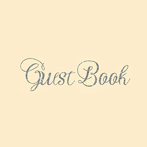 Guest Book: Ivory Cream Heart Silver Wedding/Birthday/Graduation/Baby Shower/Bridal/Memorial/Party/Vacation/Funeral/Christening/Hen/Retirement/Holiday ... Log,Photo,Unique Elegant Ideas ()