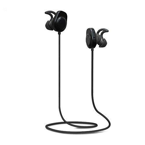 LoongSon Bluetooth Headphones, Wireless 4.2 Bluetooth Headsets Sweatproof Earphones, Snug Fit for Sports with Built in Mic, HD Stereo in Ear Earbuds with Noise Cancelling and Secure Fit Design
