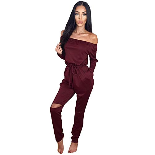 Longwu Women's Fashion off-Shoulder Drawstring Jumpsuits for sale  Delivered anywhere in Canada
