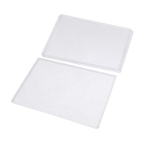 Amazon.com : DealMux Plastic B6 emblema de crédito ID Card Titular capa protetora, 3 peças, Clear (a15121600ux0900) : Office Products