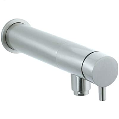Cifial 221.157.620 Techno Wall-Mounted Single Handle Lavatory Faucet, Satin Nickel