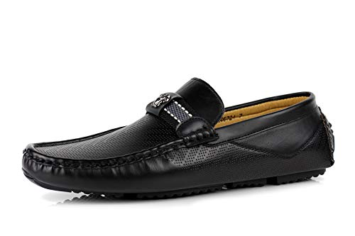 alla JAS Scarpe da Casual Nero da da Italiano Mocassini Uomo Moda Guida Stilista Stile Infilare Mocassini rxIr7p