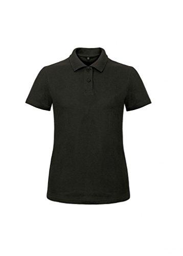 B&C Damen Ladies` Piqué Polo Shirt ID.001 /women Black XXL