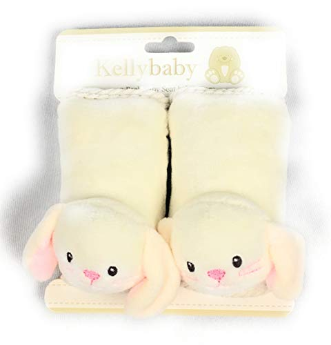 Kelly baby Set of Baby Seatbelt Covers Bunny