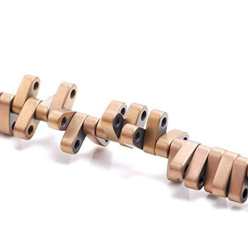 6X2MM Matte Bronze Hematite Gemstone DBL Hole Flat Round Rectangle Beads 16