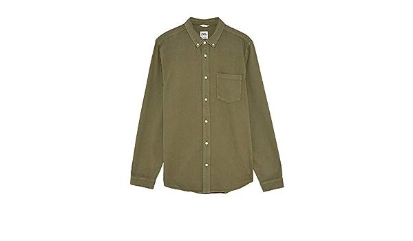 Zara Men 6987/300/505 - Camisa Vaquera Verde XL : Amazon.es