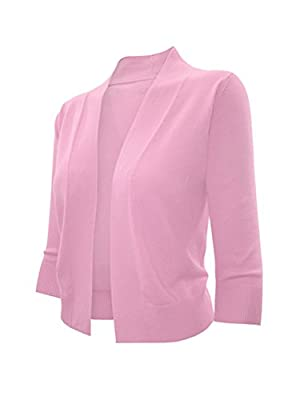 makeitmint Women's Open 3/4 or Long sleeve Bolero Cardigan [S-3XL]