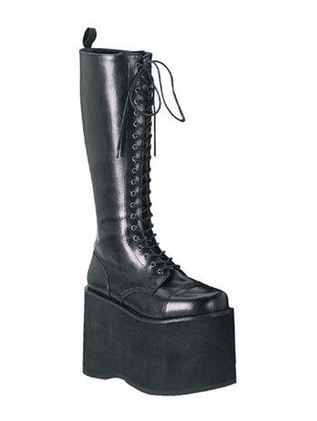 Demonia Black Goth Kiss Munster Lace Up Platform Boot - 6