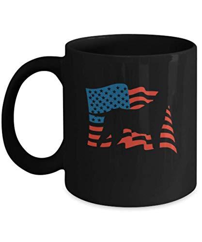 - Gift gor dog lovers, USA Labrador - Black Coffee Mug Porcelain Tea Cup 11 oz - Great Gift