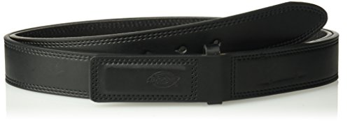 - Dickies Men's Leather Work Belt - Tactical Industrial Mechanic Heavy Duty Strength Strap Covers No Scratch Buckle,-black, 3X