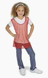 (12 Youth Nylon Mesh Scrimmage Jerseys - Red Sport Pinnies)
