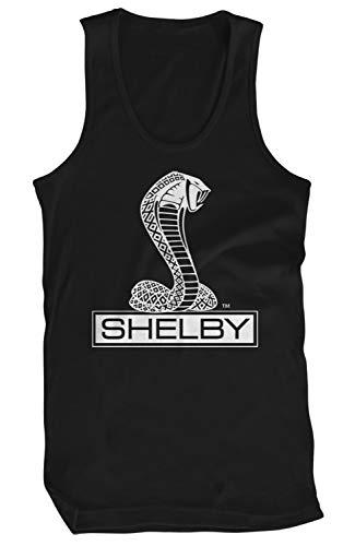 Amdesco Men's Shelby Cobra Logo Tank Top, Black 3XL