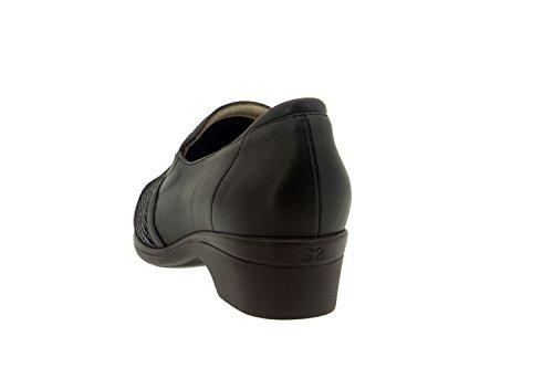 Calzado mujer confort de piel Piesanto 7614 zapato abotinado casual cómodo ancho Caoba