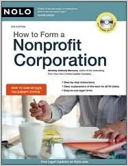 How to Form a Nonprofit Corporation 9th (nineth) edition