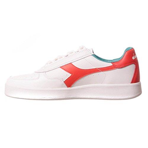 Diadora Unisex Adults' B. Elite Low-Top Sneakers White Fiesta Red UkKlOBq