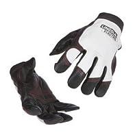 Lincoln Electric Top Grain Cowhide/Pigskin Steel Worker Gloves, White/Black