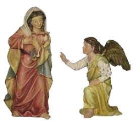 Miniatur Modell Figur Passionsfigur Maria Verkündigung 2tlg., geeignet für 9cm Figuren Zisaline