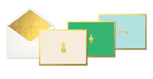 ed Note Cards, 12-Count Blank Note Cards With Coordinating Envelopes, 4 Each Of 3 Designs, Measures 5