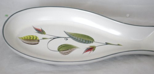 DENBY Spring Pattern Celery Dish - Stoneware England