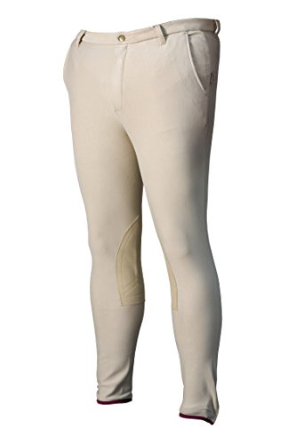 DEVON-AIRE Men's Cotton Stretch Beige Riding Breech, Long/Size 30