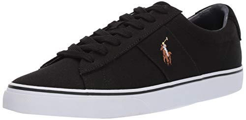 Polo Ralph Lauren Men's Sayer Sneaker, Black, 12 D US