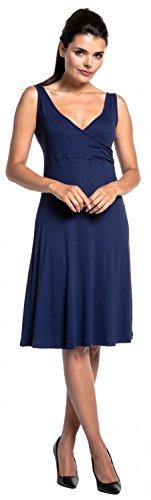 Zeta Ville - Premamá dos piezas coordinado vestido top lactancia - mujer - 716c Armada & Azul Claro