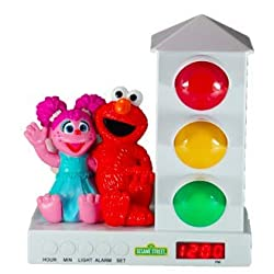 Custom Quest Sesame Street Stoplight, Alarm Clock for Kids, It's Ok to Wake Clock with Abbey and Elmo