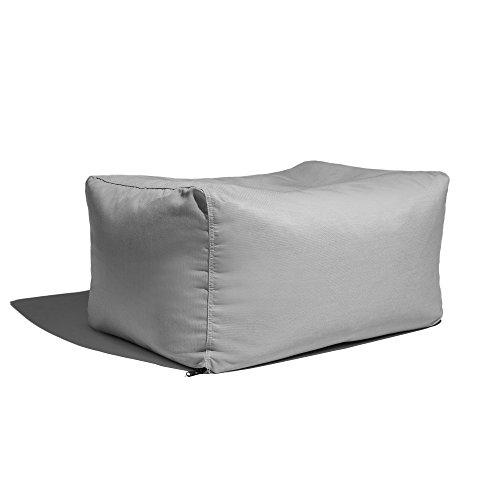 - Jaxx Leon Outdoor Bean Bag Ottoman Bench, Premium Sunbrella, Granite