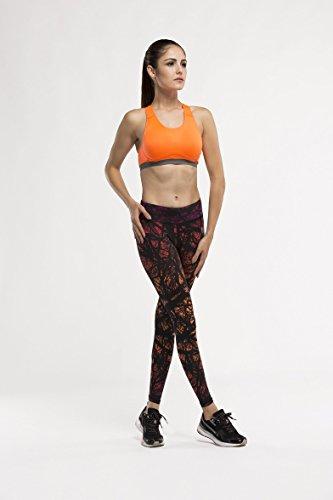 Fringoo - Medias deportivas - para mujer Tree Orange