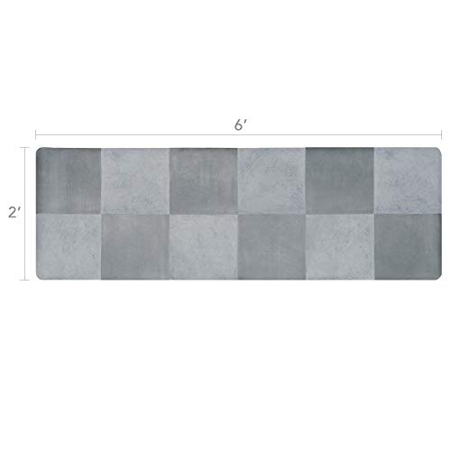 - Vinyl Floor Runner, Durable, Soft and Easy to Clean, Ideal for Kitchen Floor, Entryway or Hallway Floor Mat. Freestyle, Terrace Versailles Pattern (2 ft x 6 ft)
