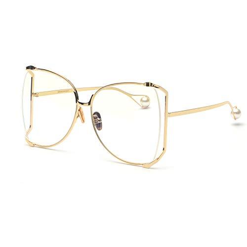 (FAGUMA Oversized Sunglasses For Women Semi Rimless Brand Designer Shades)