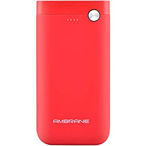 Ambrane 10000mAH Lithium Polymer Power Bank for C Type Port (Red)