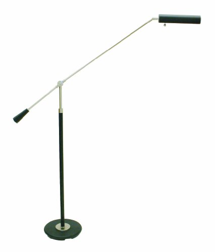 House Of Troy PFL-527 Counter Balance Portable Floor Lamp, Satin Nickel and Black