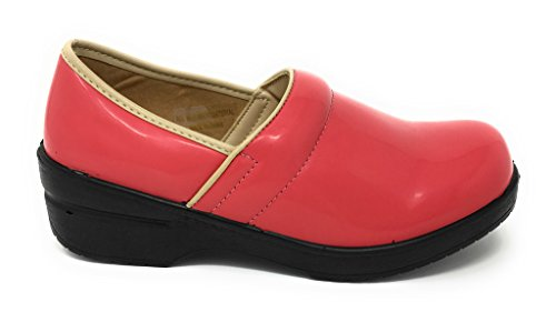 Rasolli Clogs Patent Back Closed Women's Professional Coral gxrgpzq
