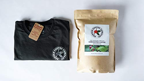 Single Origin Unroasted Green Coffee Beans, AA Grade From Small Regional Kenyan Coffee Farmer Co-Op. Direct Trade (5 Pounds & Free T-Shirt) (Kenya Aa Green Coffee Beans)