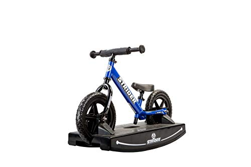 Strider - 12 Sport Baby Bundle with Balance Bike and Rocking Base, Ages 6 Months to 5 Years, Blue -  PROCK-ST-S4BL