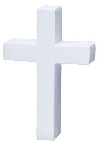 Quantity 3 pcs pack - Tenna Tops - White Christian Cross Car Antenna Topper Tenna Tops® TT_Cross