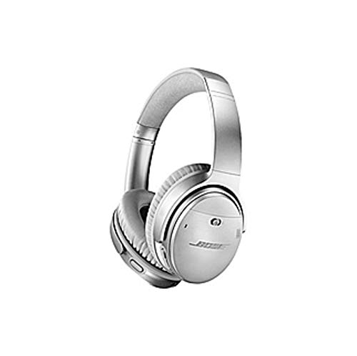 Bose QuietComfort 35 Wireless Headphones II - Stereo - Silver - Wired/Wireless - Bluetooth - 29.5 ft - Over-The-Head - Binaural - Circumaural - 3.93 ft Cable - Noise (Renewed)