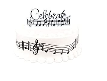 Amazon 8inch cakesupplyshop diy1007 do it yourself music 8inch cakesupplyshop diy1007 do it yourself music notes birthday party cake decoration kit solutioingenieria Images