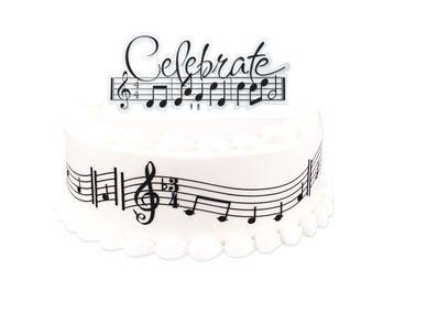 Amazon 8inch cakesupplyshop diy1007 do it yourself music amazon 8inch cakesupplyshop diy1007 do it yourself music notes birthday party cake decoration kit toys games solutioingenieria Images