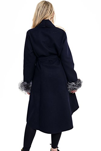 Abrigo Para Parsa Mujer Marino Azul Fashions 0x0fqwF