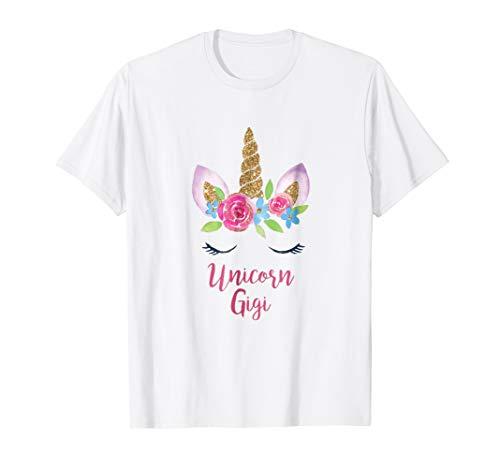Gigi Unicorn TShirt Costume Grandma Cutest Birthday Princess