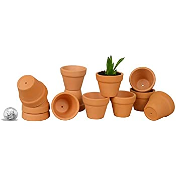 Amazon Com My Urban Crafts 1 5 Mini Clay Pots Tiny Terracotta Pot
