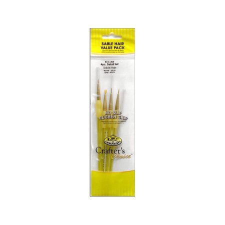 Royal Cc Sable Detail Liner Br. Artist Brush Set - Rcc 205 - 3 Pack