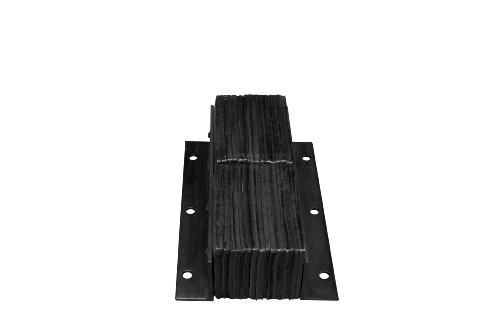 IRONguard-Rubber-Dock-Bumper-Rectangular-Laminated-Vertical-Mount-6-Holes-24-Length-11-Width-6-Depth