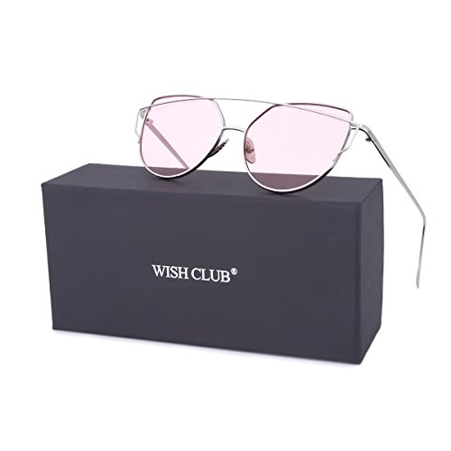goodWISH CLUB Women Cat Eye Sunglasses Oversized Transparent Clear Fashion Lens Durable UV400 Glasses(Pink)  Price: $10.49WISH CLUB Women Cat Eye Sunglasses Oversized Transparent Clear Fashion Lens Durable UV400 Glasses(Pink)  Price: $10.49