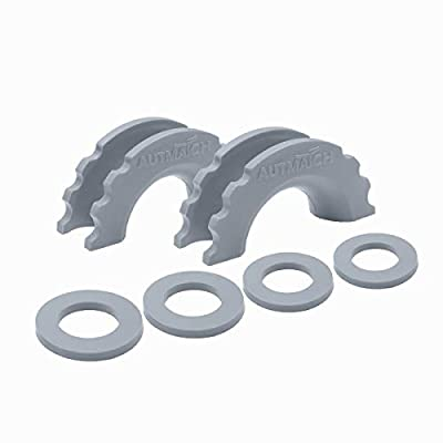 AUTMATCH Pack of 2 D-Ring Shackle Isolators Washers Kit 2 Rubber Shackle Isolators and 4 Washers Fits 3/4 Inch Shackle Gear Design Rattling Protection Shackle Cover Gray: Automotive